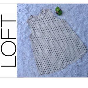 🎊 LOFT M Ivory bee pattern A Line Sleeveless Top